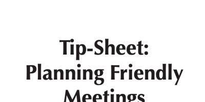 Tip-Sheet: Planning Inclusive Meetings, Going Beyond the ADA to Make Your Meeting Place User-Friendly