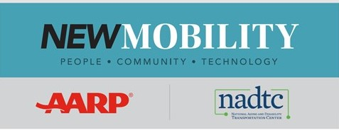 NADTC and AARP new mobility webinar logo